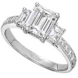 emerald cut three engagement ring since1910 wedding ring style 3 emerald cut engagement ring onewed