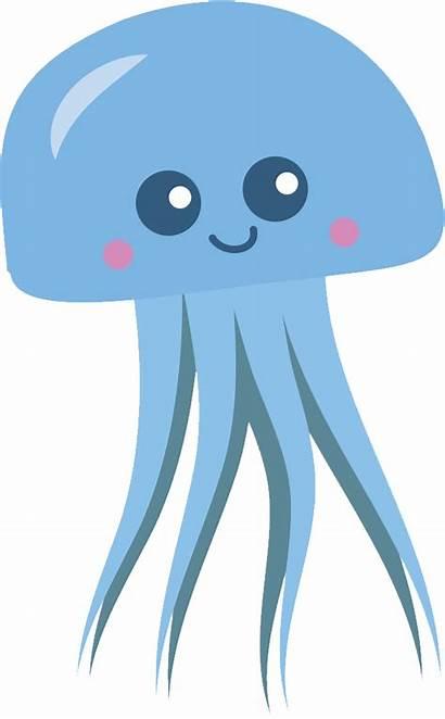 Jellyfish Clipart Transparent Clip Cartoon Ubur Gambar
