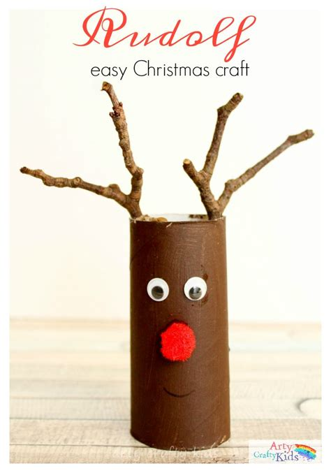 easy paper roll rudolph christmas craft arty crafty kids