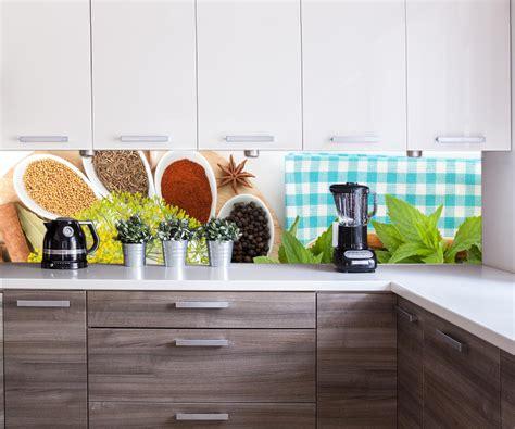 Wandmotiv24  Küchenrückwand Auswähl Aus Bunte Kräuter Und