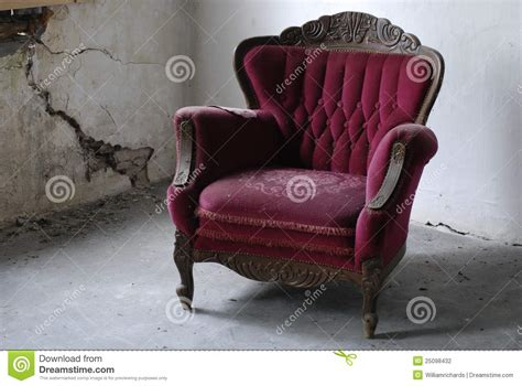 Old Armchair In Decaying Building Stock Photo