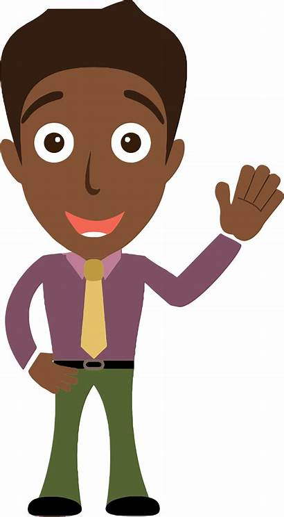 African Clipart Cartoon Clip Person Hello Saying