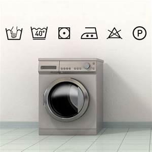 Boules De Lavage Pour Machine à Laver : stickers symboles instructions lavage d coration pour ~ Premium-room.com Idées de Décoration