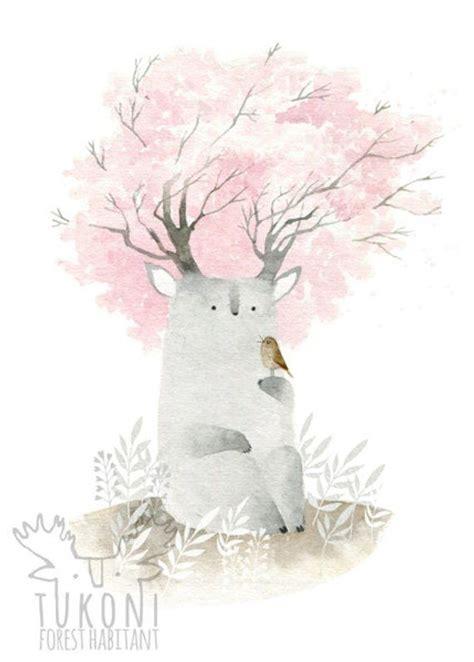 sakura spirit digital print art poster watercolor painting