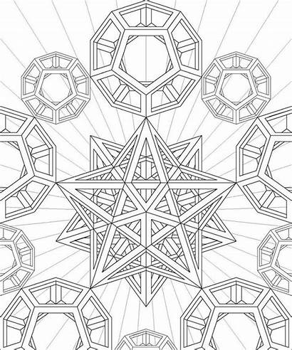 Coloring Pages Geometry Sacred Geometric Shapes Dodecahedron