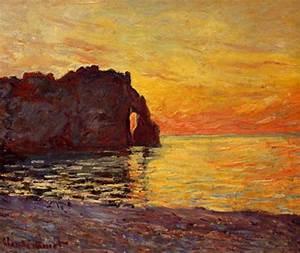 Etretat, effet de soleil couchant, par Claude Monet MIAM