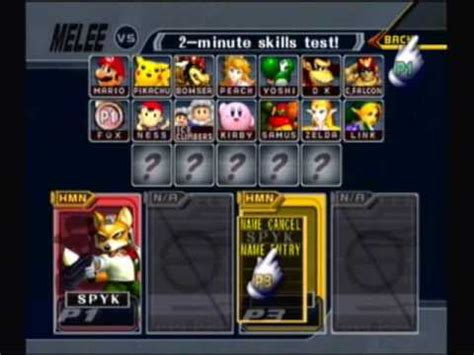 glitch super smash bros melee play  master hand