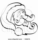 Coloring Beard Outline Mustache Hat Happy Face Santa Clipart Royalty Nortnik Andy Illustration Christmas Pages Rf Illustrations Clipartof sketch template