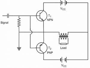 class b power amplifier With push pull amplifier