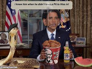 Barack Obama Eating KFC with a Snake Pictures - Freaking News