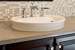 Beautiful bathroom sink backsplash with white and beige for Bathroom sink tile backsplash ideas