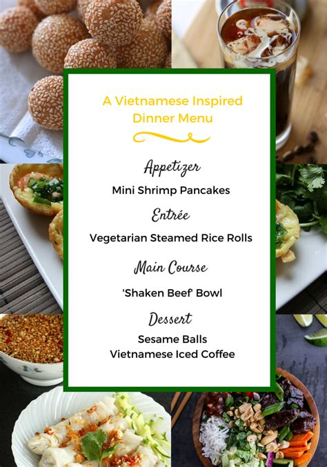 Vietnamese Dinner Party Menu