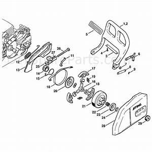 Stihl Ms 180 Chainsaw  Ms180cbe  Parts Diagram  Hand Guard