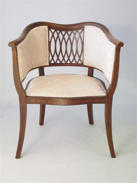 vintage tub chairs antique edwardian mahogany tub chair 3262