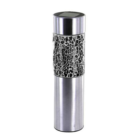 solar led outdoor l post stainless steel solar powered mosaic led garden lights
