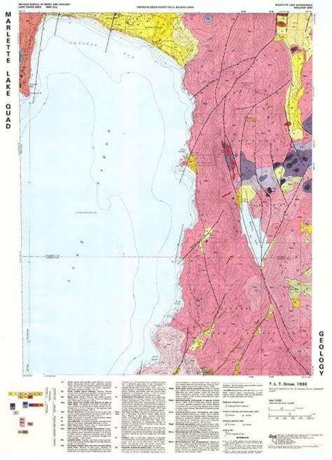 geological survey and mines bureau marlette lake quadrangle geologic map
