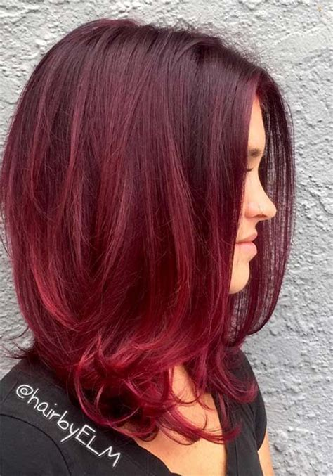 Hairstyles And Colours For Black Hair by Cherry Wine Hair Color Hair Colors Idea In 2019