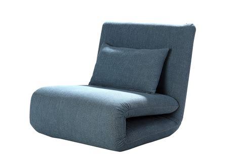 petit canape pas cher fauteuil design convertible en tissu bleu norton