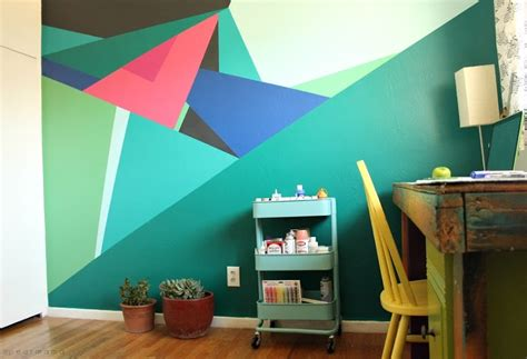 painting geometric shapes on walls paint this geometric wall design pearmama