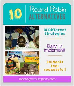 10 Round Robin Alternatives - Teaching With Simplicity