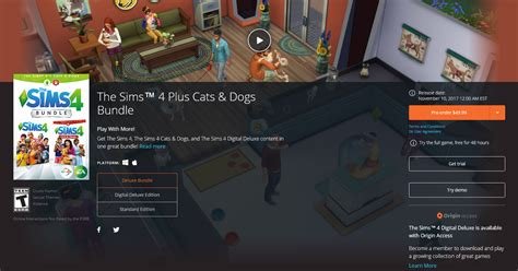 pre order  sims   cats dogs bundle  origin