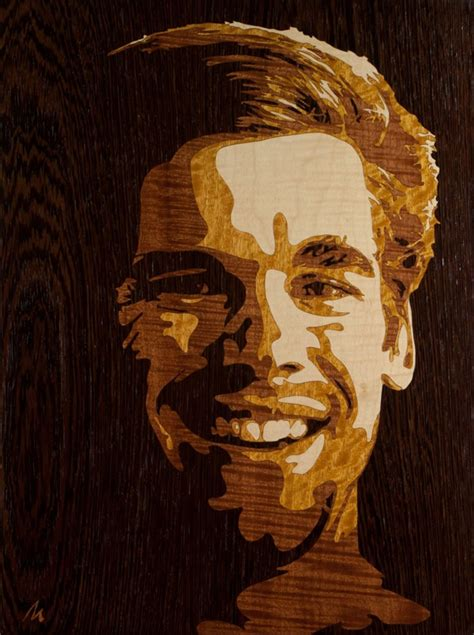 detailed wood portraits crafted   marquetry technique
