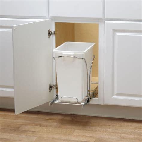 sliding trash can under sink household essentials under cabinet single sliding trash