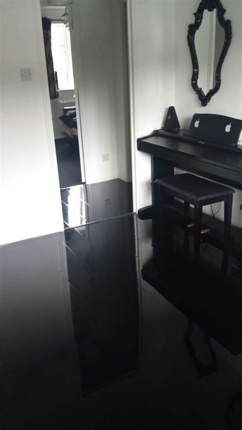High Gloss Designer Black   Floorless Floors