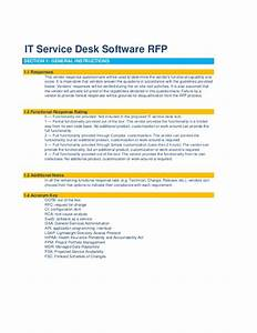 it service desk software rfp template With help desk manual template