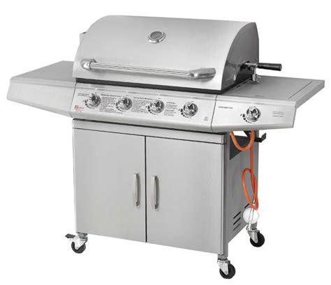 cuisiner avec barbecue a gaz barbecue gaz inox avec rotissoire