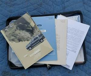 2004 Ford Explorer Owners Manual User Guide Includes Case