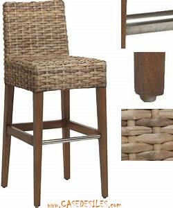 Chaise De Bar En Rotin : chaise de bar en bois pas cher mobilier design ~ Teatrodelosmanantiales.com Idées de Décoration