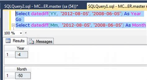 datediff function  sql server