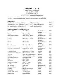 theatre resume 2015