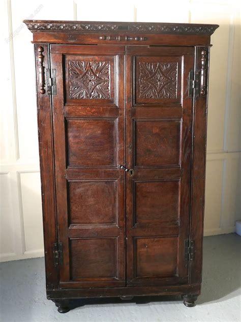 Wardrobe Cupboard by 17th Century Carved Oak Cupboard Or Wardrobe Antiques Atlas