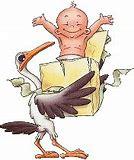 Résultat d'images pour la cigogna apporte les bébés  humour