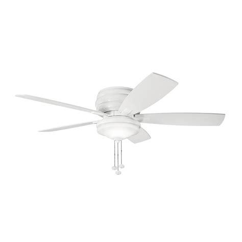 lowes flush mount white ceiling fans shop kichler windham 52 in white indoor flush mount