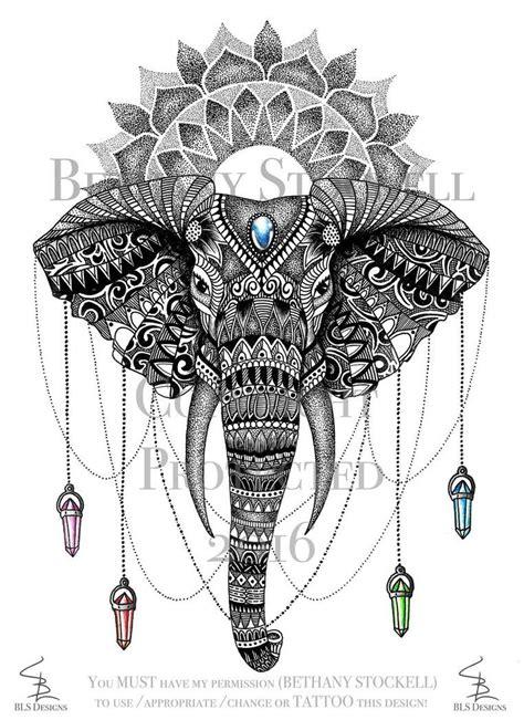 mandala elephant bethany stockell  bethanystockell