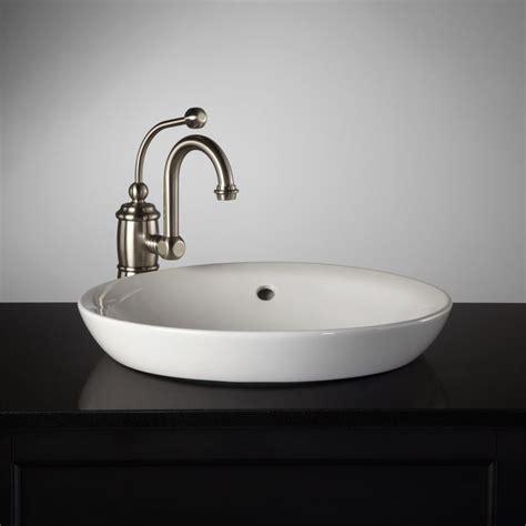 Recessed Bathroom Sink by Milforde Semi Recessed Porcelain Sink S Bathroom