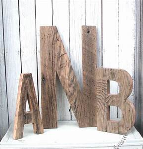 decorative barn wood letters by second nature woodwork With barn wood letters