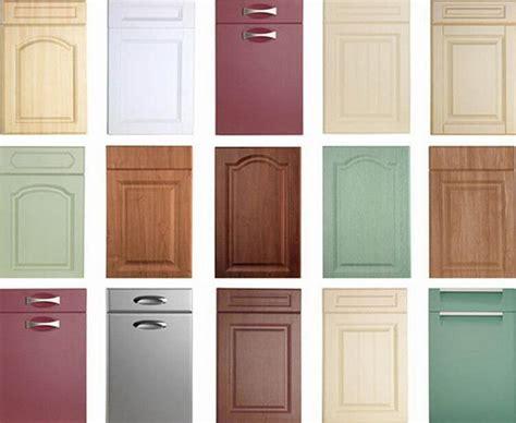 simple style white pvc membrane door panel kitchen cabinet