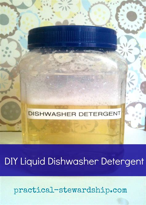 dishwasher liquid detergent homemade ingredient diy three practical stewardship aid revised recipe rinse recipes improved soap dish dishwashing ingredients cleaning