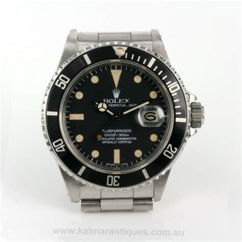 Buy Rare vintage Rolex Submariner model 16800 Sold Items ...