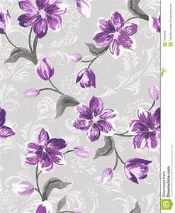 Purple Flower Seamless Pattern Royalty Free Stock Images ...