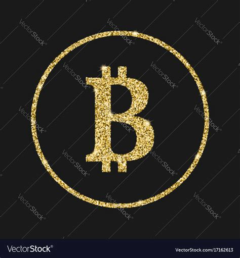 Free for commercial use no attribution required high quality images. Bitcoin icon with glitter effect isolated on Vector Image