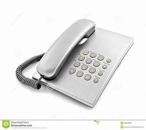Silver Modern Telephone Stock Photo  Image Of