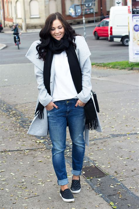 Ready For November Outfit With Another Boyfriend Jeans - Kleidermaedchen Fashion Beauty und ...