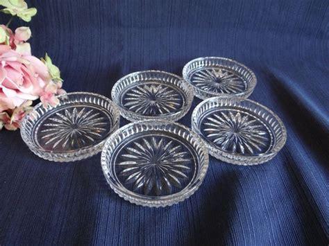 Set Of Five Crystal Coasters