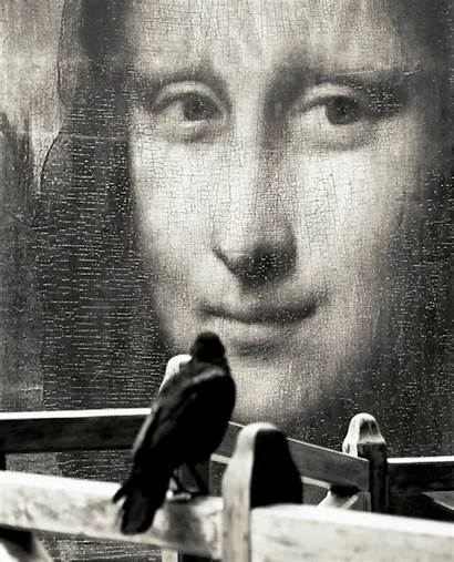 Mona Lisa Vinci Leonardo Surrealism Clos Amber