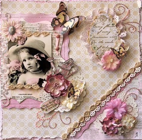 shabby chic scrapbook seeds premade scrapbook page vintage shabby chic by reneabouquets scrapbook pinterest